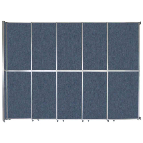 "Operable Wall Sliding Room Divider 15'7"" x 12'3"" Ocean Fabric"