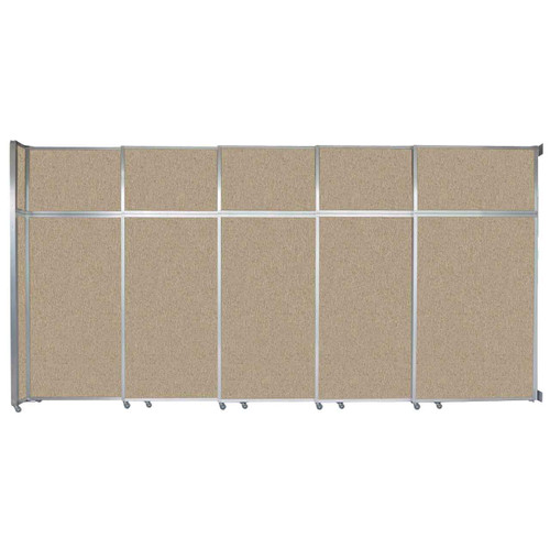 """Operable Wall Sliding Room Divider 15'7"""" x 8'5-1/4"""" Rye Fabric"""