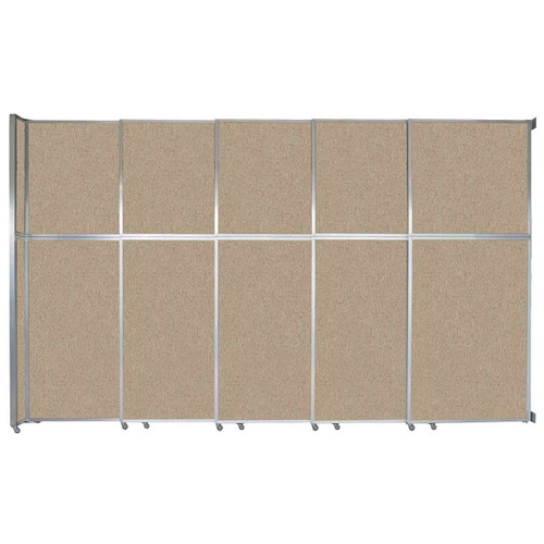 """Operable Wall Sliding Room Divider 15'7"""" x 10'3/4"""" Rye Fabric"""
