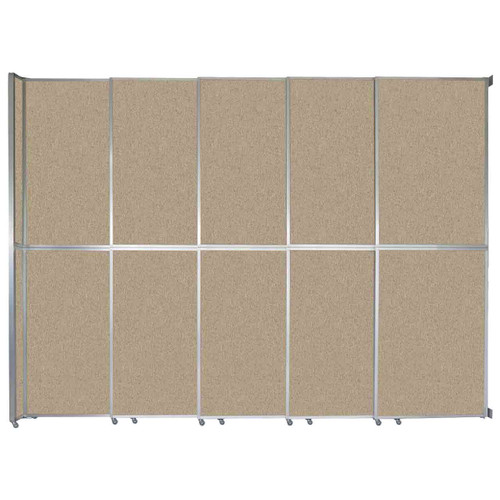 """Operable Wall Sliding Room Divider 15'7"""" x 12'3"""" Rye Fabric"""
