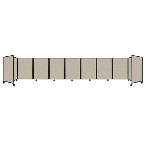 Room Divider 360 Folding Portable Partition 25' x 4' Sand Fabric