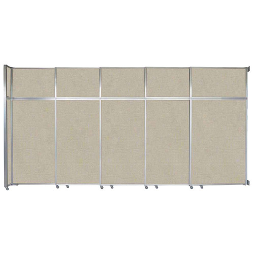 "Operable Wall Sliding Room Divider 15'7"" x 8'5-1/4"" Sand Fabric"