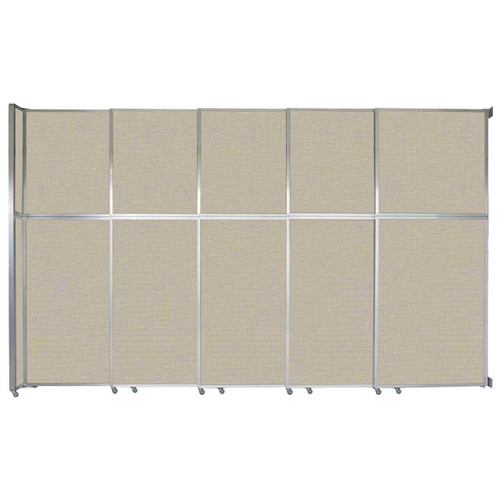 """Operable Wall Sliding Room Divider 15'7"""" x 10'3/4"""" Sand Fabric"""