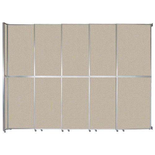 "Operable Wall Sliding Room Divider 15'7"" x 12'3"" Sand Fabric"