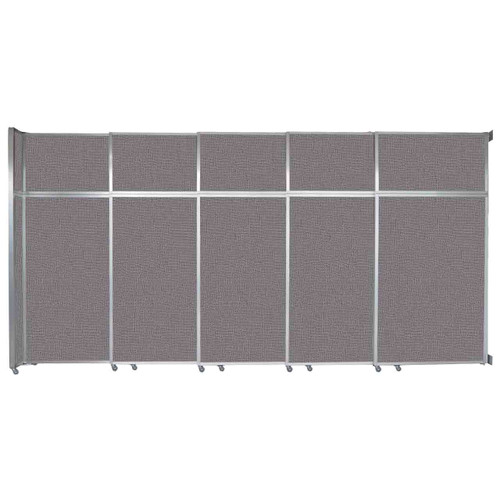 """Operable Wall Sliding Room Divider 15'7"""" x 8'5-1/4"""" Slate Fabric"""