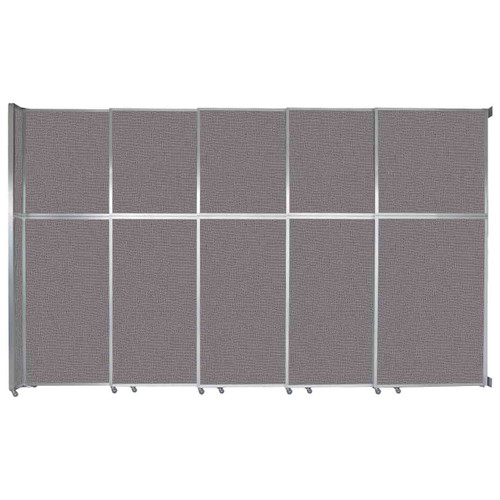 "Operable Wall Sliding Room Divider 15'7"" x 10'3/4"" Slate Fabric"