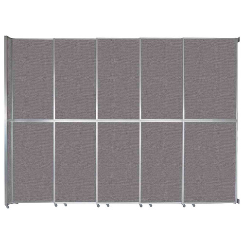 "Operable Wall Sliding Room Divider 15'7"" x 12'3"" Slate Fabric"