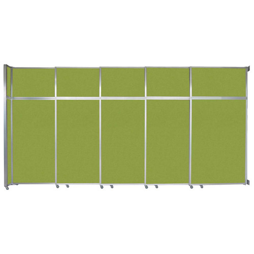 "Operable Wall Sliding Room Divider 15'7"" x 8'5-1/4"" Lime Green Fabric"