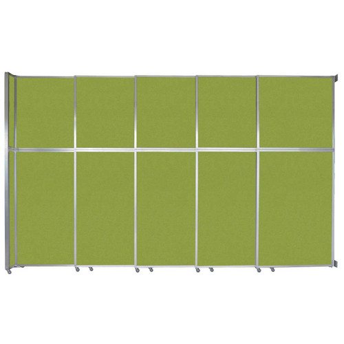 """Operable Wall Sliding Room Divider 15'7"""" x 10'3/4"""" Lime Green Fabric"""