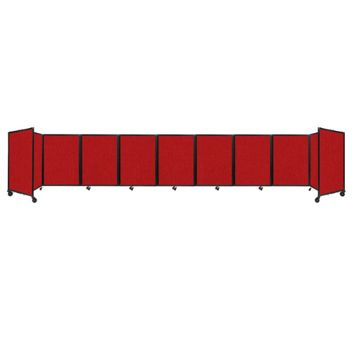 Room Divider 360 Folding Portable Partition 25' x 4' Red Fabric