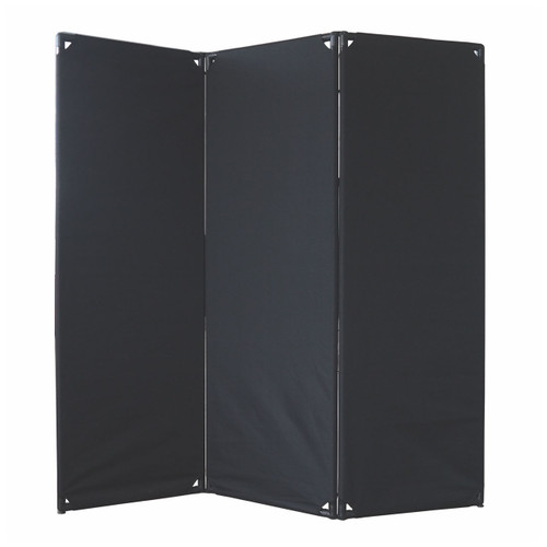 FP6 Economical Privacy Screen 6' x 6' Black Canvas