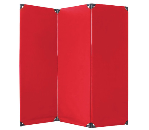 FP6 Economical Privacy Screen 6' x 6' Red Canvas
