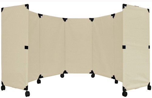 MP10 Economical Folding Portable Partition 10' x 4' Beige Canvas