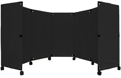 MP10 Economical Folding Portable Partition 10' x 4' Black Canvas