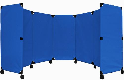 MP10 Economical Folding Portable Partition 10' x 4' Blue  Canvas