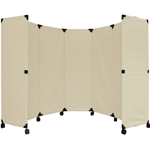 MP10 Economical Folding Portable Partition 10' x 6' Beige Canvas
