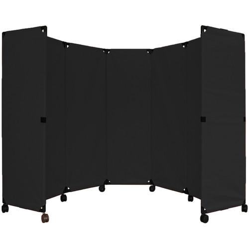 MP10 Economical Folding Portable Partition 10' x 6' Black Canvas