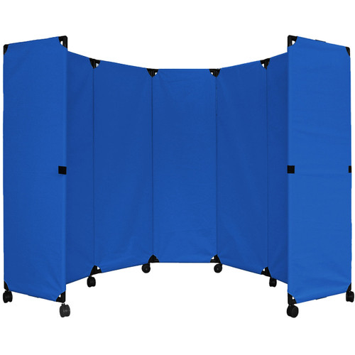 MP10 Economical Folding Portable Partition 10' x 6' Blue  Canvas