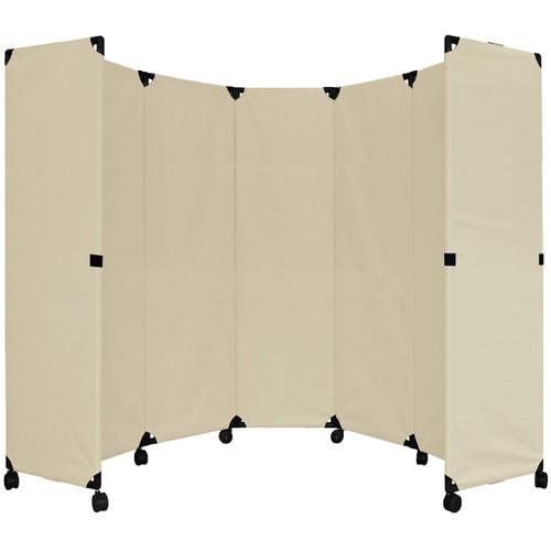 """MP10 Economical Folding Portable Partition 10' x 6'10"""" Beige Canvas"""