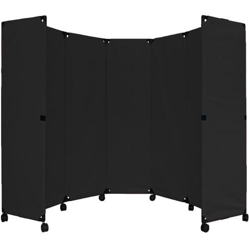 """MP10 Economical Folding Portable Partition 10' x 6'10"""" Black Canvas"""