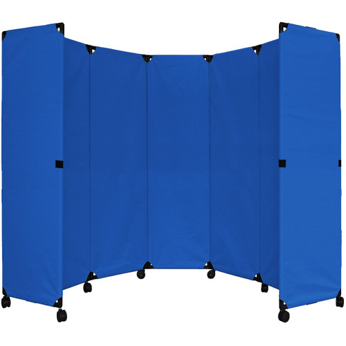 """MP10 Economical Folding Portable Partition 10' x 6'10"""" Blue  Canvas"""
