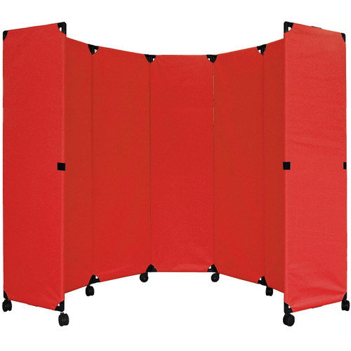 "MP10 Economical Folding Portable Partition 10' x 6'10"" Red Canvas"