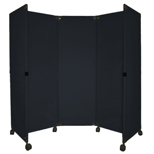 MP10 Economical Folding Portable Partition 6' x 6' Black Canvas