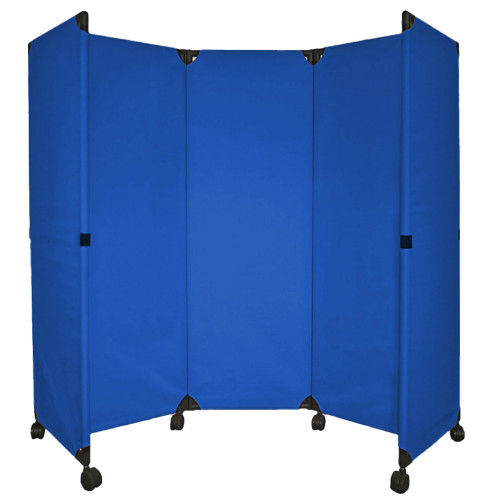 MP10 Economical Folding Portable Partition 6' x 6' Blue  Canvas