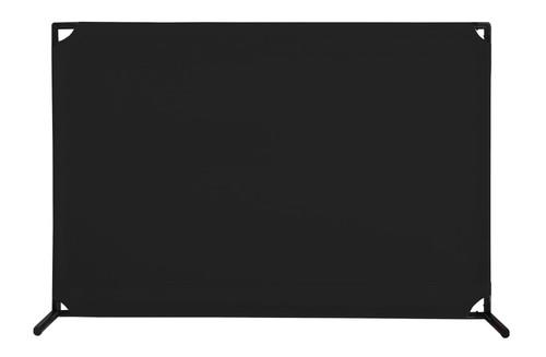 VP4 Two-Position Economical Partition 4' x 6' Black Canvas