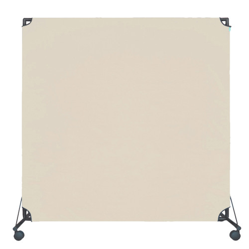 VP6 Rolling Economical Partition 6' x 6' Beige Canvas