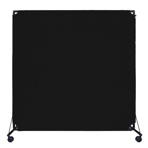 VP6 Rolling Economical Partition 6' x 6' Black Canvas