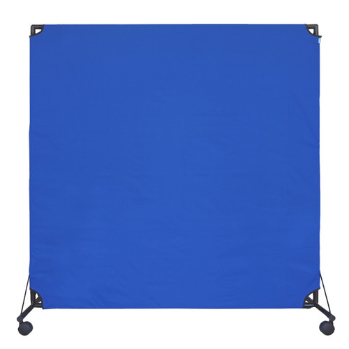 VP6 Rolling Economical Partition 6' x 6' Blue  Canvas