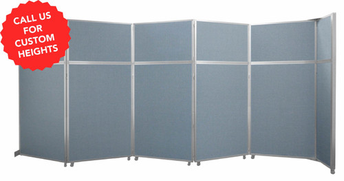 The Operable Wall Folding Room Divider comes in custom heights!