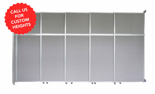 The Operable Wall Sliding Room Divider can be made in custom heights.