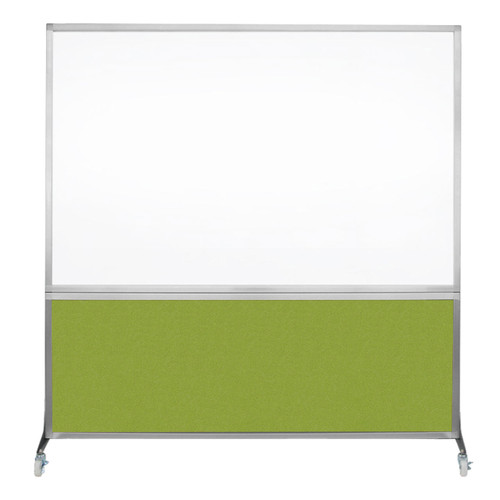 The DivideWrite Mobile Whiteboard Partition with a Lime Green fabric.