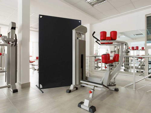 Use the VP4 to get some privacy while working out at the gym.