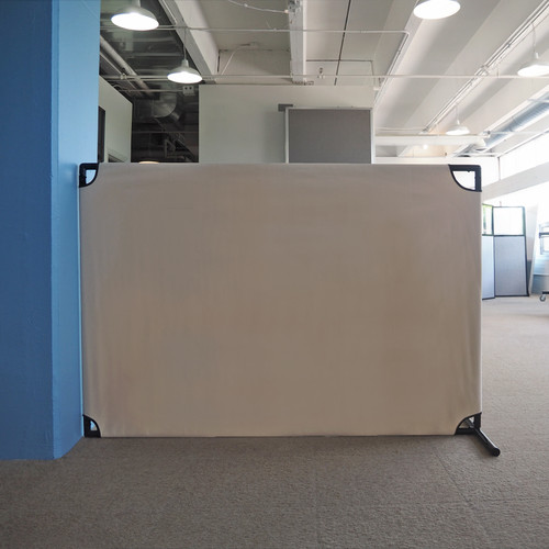 The VP4 Rolling Room Partition can be flipped 90 degrees for multiple uses.