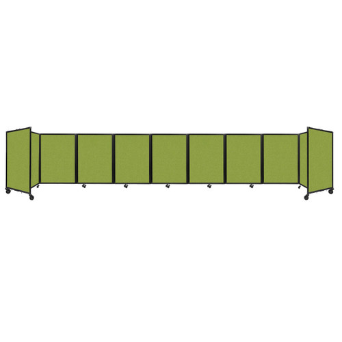 Room Divider 360 Folding Portable Partition 25' x 4' Lime Green Fabric