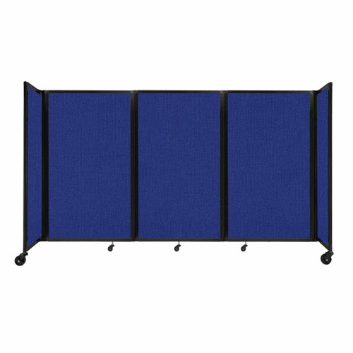 """Room Divider 360 Folding Portable Partition 8'6"""" x 5' Royal Blue Fabric"""