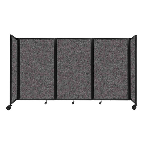 """Room Divider 360 Folding Portable Partition 8'6"""" x 5' Charcoal Gray Fabric"""