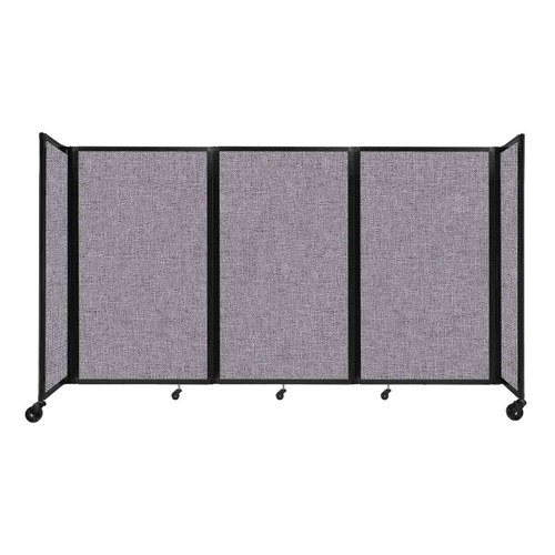 """Room Divider 360 Folding Portable Partition 8'6"""" x 5' Cloud Gray Fabric"""