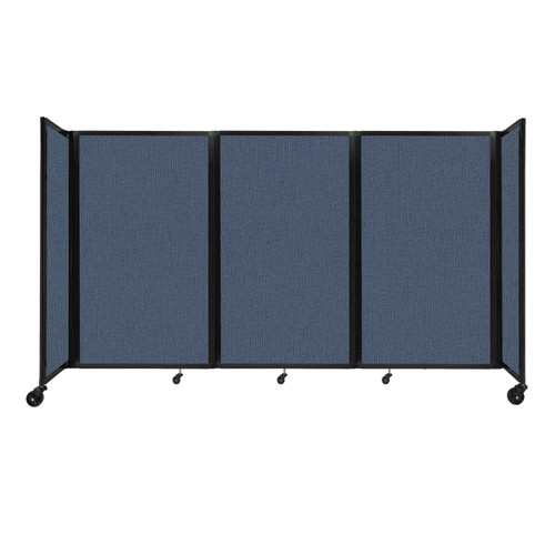 """Room Divider 360 Folding Portable Partition 8'6"""" x 5' Ocean Fabric"""