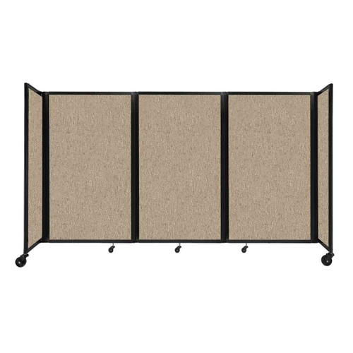 """Room Divider 360 Folding Portable Partition 8'6"""" x 5' Rye Fabric"""