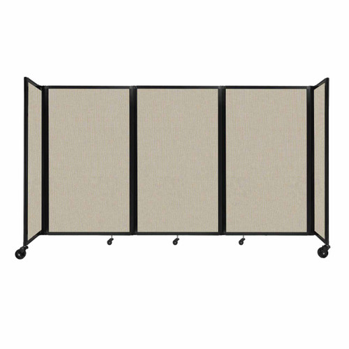 """Room Divider 360 Folding Portable Partition 8'6"""" x 5' Sand Fabric"""