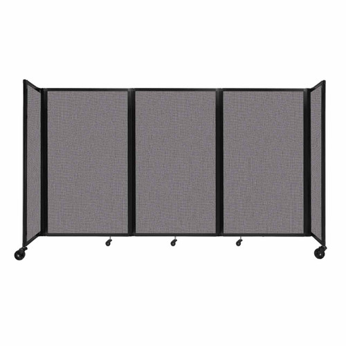 """Room Divider 360 Folding Portable Partition 8'6"""" x 5' Slate Fabric"""