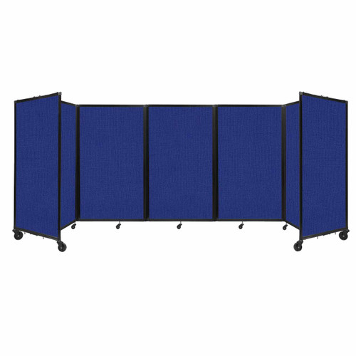 """Room Divider 360 Folding Portable Partition 14"""" x 5' Royal Blue Fabric"""