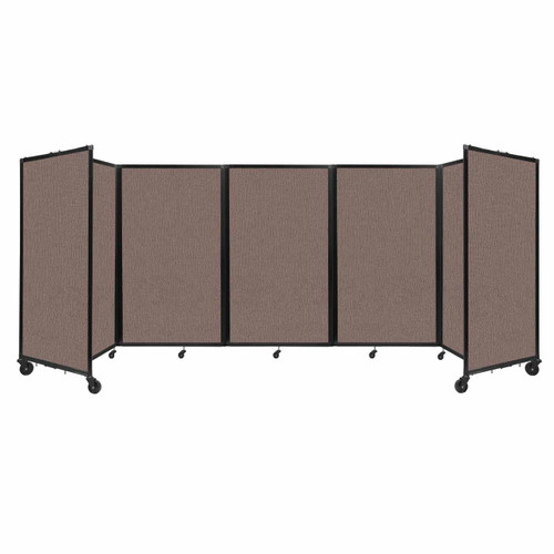 """Room Divider 360 Folding Portable Partition 14"""" x 5' Latte Fabric"""