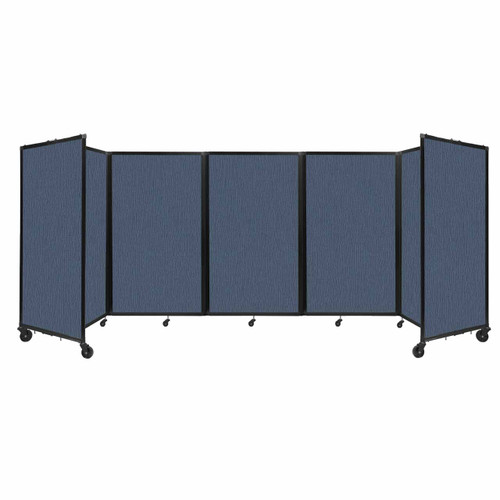 """Room Divider 360 Folding Portable Partition 14"""" x 5' Ocean Fabric"""