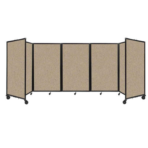 """Room Divider 360 Folding Portable Partition 14"""" x 5' Rye Fabric"""