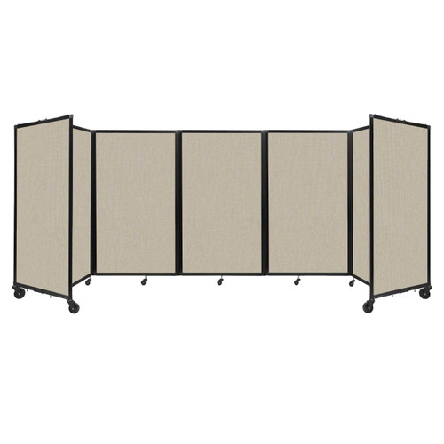 """Room Divider 360 Folding Portable Partition 14"""" x 5' Sand Fabric"""
